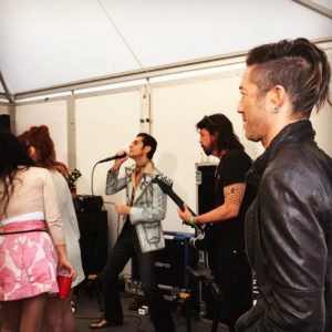 Brendan Buckley pre show jam with Perry Farrell, Dave Grohl