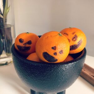 delicious and scary oranges